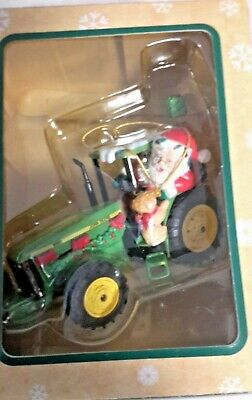 Enesco John Deere 8400 Tractor Christmas Tree Holiday Ornament With Santa Claus