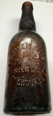 Pre Pro CREAM CITY BREW'G Co MILWAUKEE Wisconsin Hand Blown Beer Bottle