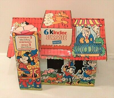 90'S Kinder Surprise Box Empty Paper Case Advertise Disney Character House Box