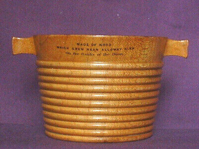 Mauchline Ware Luggie Or Coggie Beautifully Turned In Sycamore Wood. C.1860.