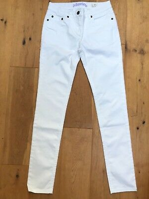 BNWOT BODEN JOHNNIE B Ladies Girls White Skinny Stretch Jeans @ UK 26 L NEW UK6