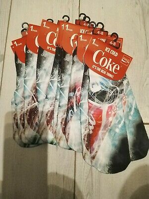 10 X  Brand new soft  unisex Coca-Cola socks
