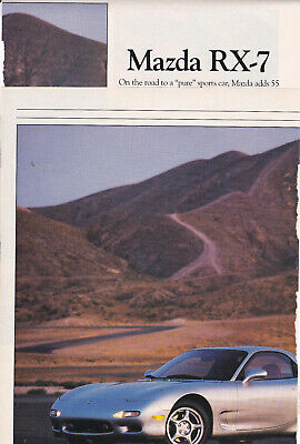12-1991 Mazda RX7, Detailed 'Early' New Car Preview From USA Car Magazine
