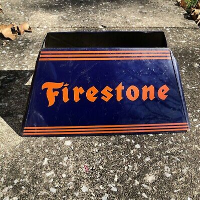 ** RARE Firestone Tire Display Rack Stand Advertisement Station Garage Antique