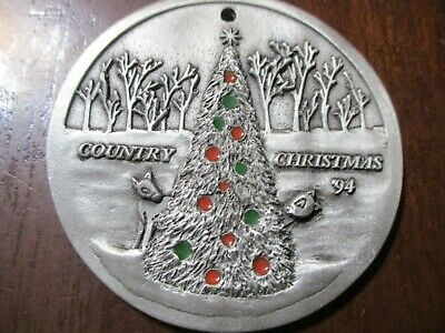 "John Deere 1994 Painted Pewter ""Country Christmas"" Ornament"