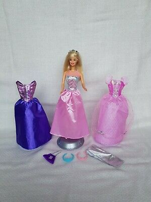 Mattel Barbie Princess Doll And Outfits Clothing Bundle