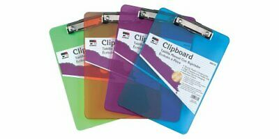 Charles Leonard Transparent Plastic Clipboard with Low Profile Clip and Pull ...