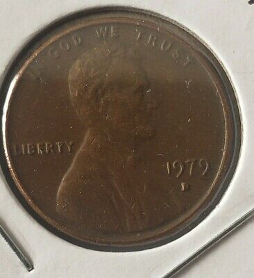 1979 D Penny Error Coin Double Die On D