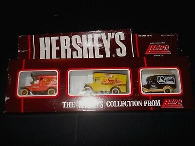 Hershey's Vehicle Collection Set 3 Die Cast Metal Made in England by Lledo