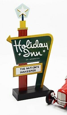 Holiday Inn Sign Hotel Motel Counter Standee Diorama Sign 1:18 1:24 train layout