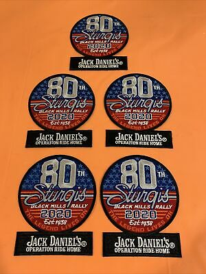Sturgis 80Th Harley Motorcycle Rally 2020 Jack Daniels Operation Ride Patch Qty5