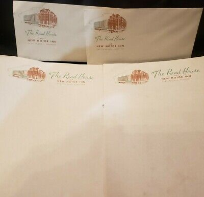 Vintage THE READ HOUSE & NEW MOTOR INN CHATTANOOGA, TN Stationary & Envelopes