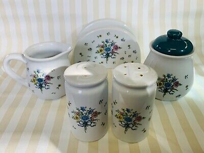 Vintage Lidded Sugar Bowl by Tabletops Unlimited Victoria Floral Bouquet
