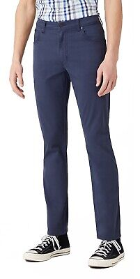 Wrangler Texas Stretch Jeans Mens Summer Chino Style Soft Fabric W3 Navy Blue