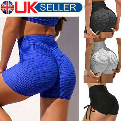 Womens Push Up Yoga Shorts Sports Hot Pants Booty Gym Bottoms Fitness Briefs UK