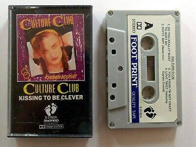 CULTURE CLUB Kissing To Be Clever Original UK Audio Cassette Tape FOOTPRINT EX