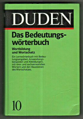 Duden Volume 10 Meaning Dictionary Word Formation Vocabulary 2nd Ed.