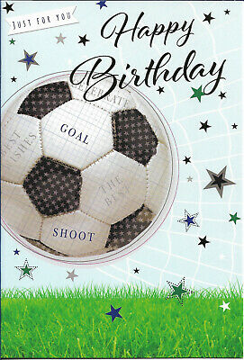 """Birthday Card Football Sport Male Boy Lad Man ~ Have A Great Day ~ Large 9/""""x6/"""""""