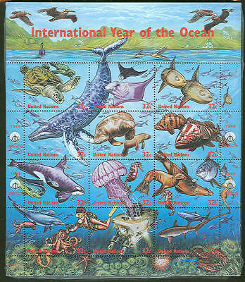UNITED NATIONS  INTL Year of the OCEAN Complete Sheets