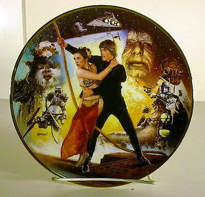 Vintage Star Wars (Return of Jedi) 20th Anniversary Plate- Mint Boxed w COA
