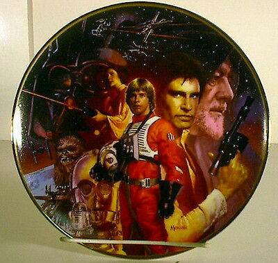 Vintage Star Wars 20th Anniversary Ceramic Plate- OVERSIZED! Mint Boxed w COA