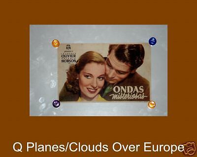 1943 ORIGINAL Clouds Over Europe Spain Herald Sir Lawrence Olivier VERY RARE