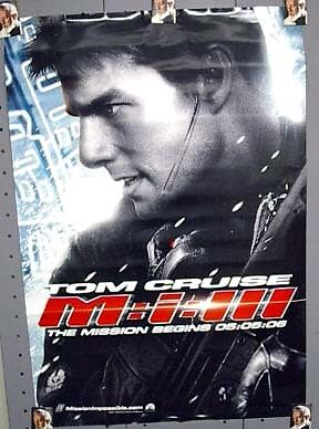 2-SIDED 1-Sheet Movie Poster MISSION IMPOSSIBLE III