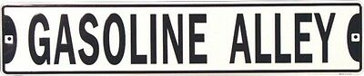 """New """" GASOLINE ALLEY """"  Embossed Metal Street Sign 5X24"""