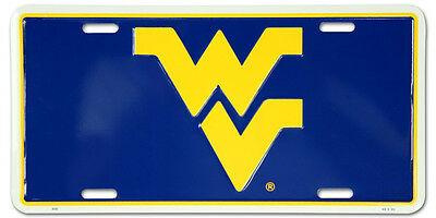 """New! West Virginia Mountaineers """" WV """" License Plate BL"""