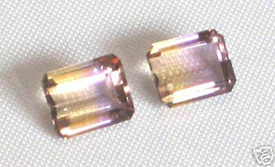 Matched Pair of Genuine Natural Ametrine, 8X10mm