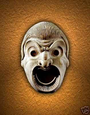 The Mask - Theatrical Ancient Athenian Greek Angora art