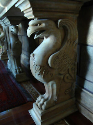 Pedestal Fireplace/Sconce stone table ends sculpture artist Canada handmade