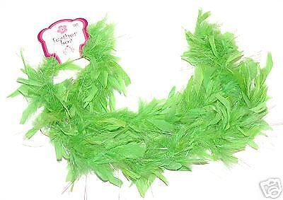 ~12 Lime Feather Boas~Fairy Princess Angel Costume Girl