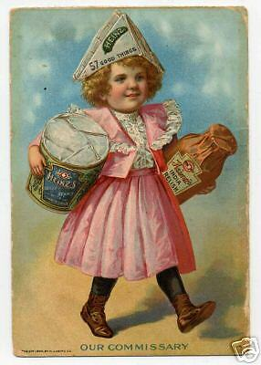 19890s Trade Card Girl Carrying Heinz Containers