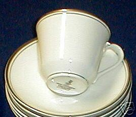 ROYAL DOULTON OXFORD PLATINUM CUP AND SAUCER SET