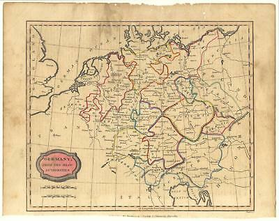 1807 map of Germany - C. Brightly & E. Kinnersley original, over 200 year old!