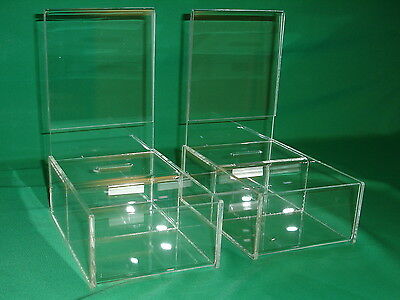 Two (2) Large Vending Style Donation Boxes For Fundraising