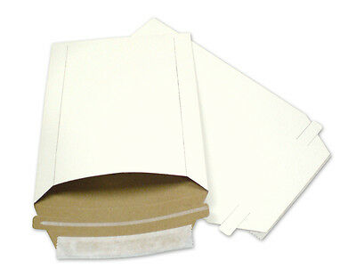 100 6X8 Rigid Photo/Postcard Mailers Envelopes Paper Board W Expedited Shipping