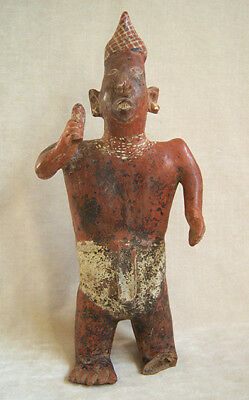 Magnificent Pre-Columbian NAYARIT STANDING MALE FIGURE, ca. 100 BC - AD 250