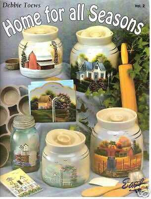 "Debbie Toews: ""Home For All Seasons 2"" Paint Book -New!"