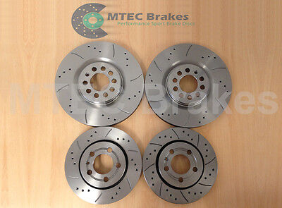 AUDI A3 Quattro S3 Drilled Grooved Brake Discs FR RR