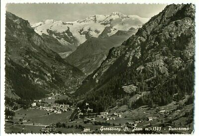 Gressoney St. Jean - Panorama (Aosta) 1954