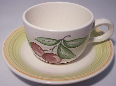 FRANCISCAN POTTERY FRUIT CUP/SAUCER SET!