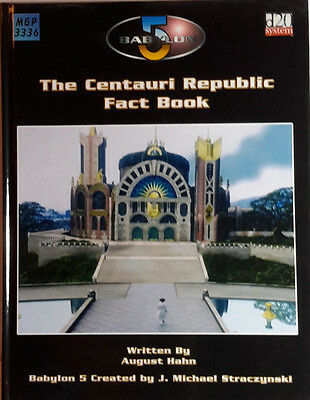 BABYLON 5 RPG Game Book CENTAURI REPUBLIC FACT BOOK Hardcover 190 Pages-FREE S&H