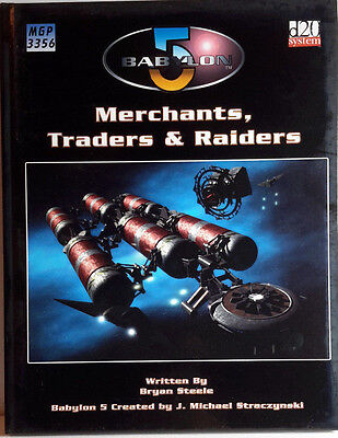 BABYLON 5 Game Book MERCHANTS TRADERS & RAIDERS Hardcover 158 Pages- FREE S&H