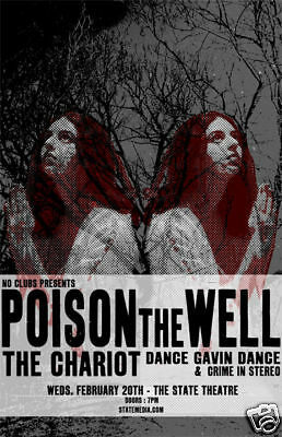 POISON THE WELL * Rare Limited Edition Concert Poster *