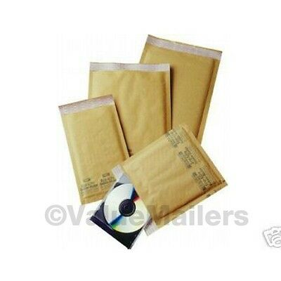 75 Combo * Bubble Mailers * 6 Sizes #0,#1,#2,#3,#4,#5