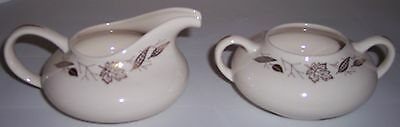 FRANCISCAN POTTERY GOLD LEAVES FINE CHINA CREAMER/SUGAR
