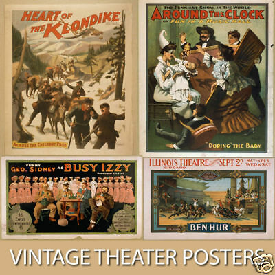 Vintage Old Time Theater Poster Images Collection Cd