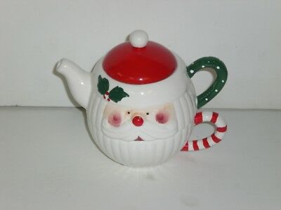"""Santa Teapot and Cup Set """"New In Box"""""""
